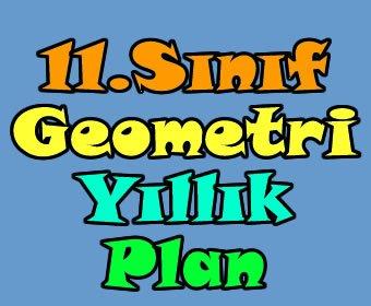 2013-2014 öğretim yılı 11. sınıf geometri yıllık plan