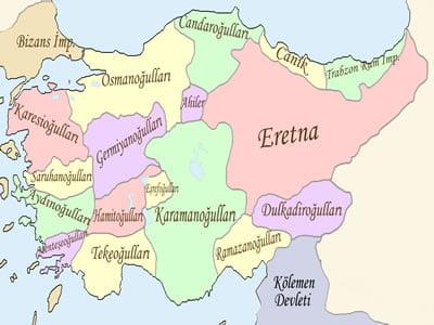 Anadolu'da kurulan beylikler
