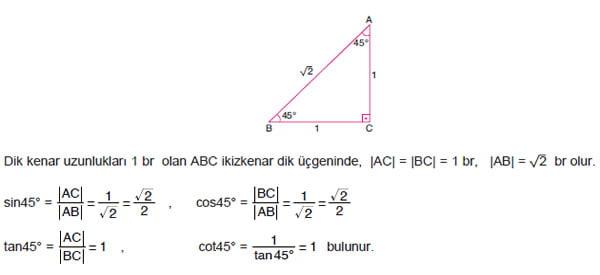 ozel-acilarin-trigonometrik-oranlari-45-derece