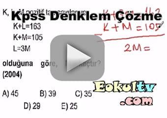 Kpss denklem çözme çıkmış sorular