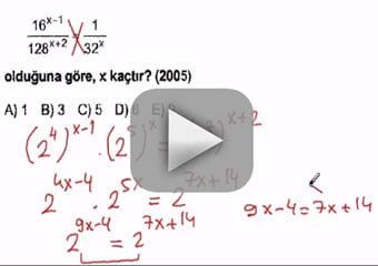 Kpss üslü sayılar çıkmış sorular