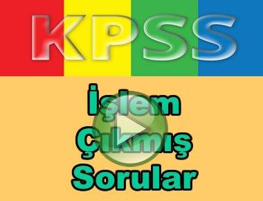 Kpss matematik işlem çıkmış soru çözümleri