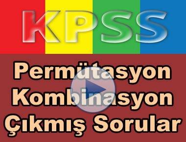 Kpss matematik permütasyon kombinasyon çıkmış soru çözümleri