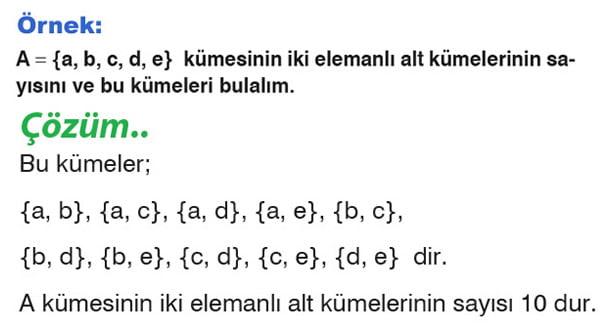 Alt küme sayısı örnek 4