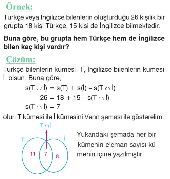 Küme problemleri örnek soru 1