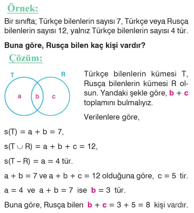 Küme problemleri örnek soru 4