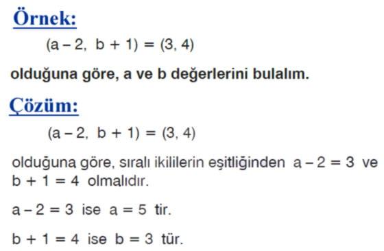 Sıralı ikili örnek soru 2