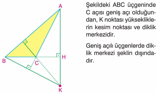 üçgende Yükseklik Kenar Orta Dikme Konu Anlatımı Soru çözümleri 9
